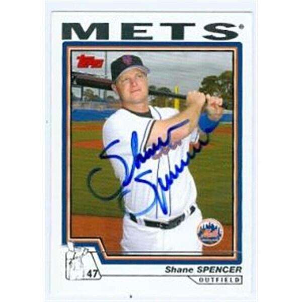 Shane Spencer Autographed Baseball Card New York Mets 2004 Topps N