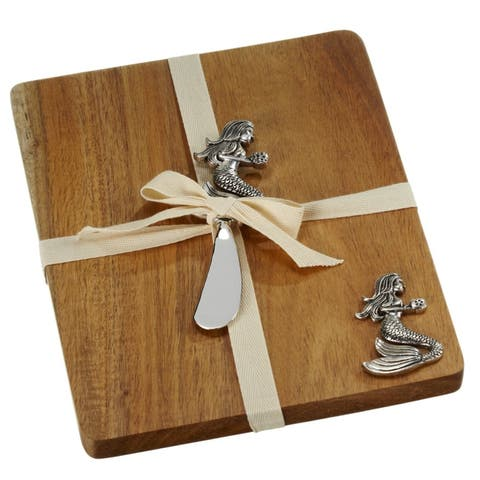 Mermaid Cheese Board With Matching Spreader Set