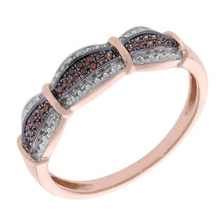 Prism Jewel 0.10Ct Cognac Color Diamond Anniversary Ring