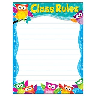 (6 Ea) Class Rules Owl-Stars Learning Chart
