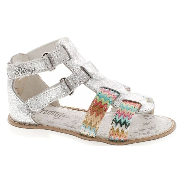 Primigi Girls 14168 Leather European Fashion Gladiator Sandals - Silver