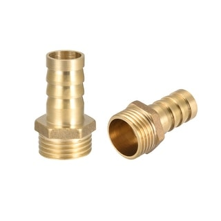 """Brass Barb Hose Fitting Connector Adapter 14 mm Barbed x1/2"""" G Male Pipe - 1/2"""" G x 14mm"""