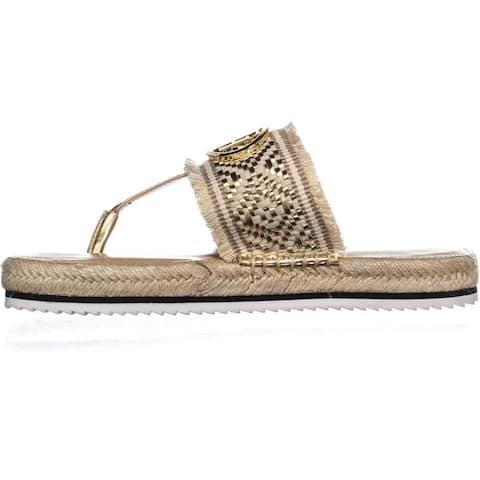 565e6f243 Tommy Hilfiger Womens Nazia Fabric Open Toe Casual Slide Sandals - 9.5