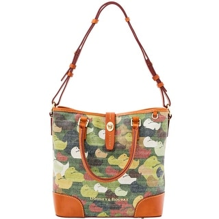 Dooney & Bourke Camouflage Duck Medium Cayden (Introduced by Dooney & Bourke at $298 in Dec 2014) - Green