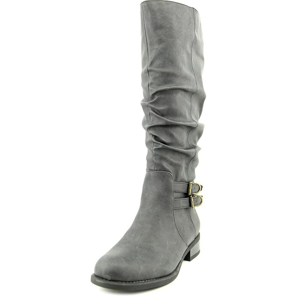 American Living Jasmin Women Round Toe Synthetic Knee High Boot