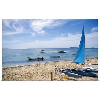 """Catamaran on beach"" Poster Print"
