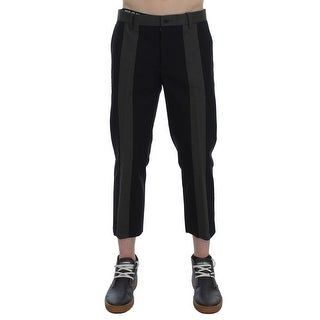 Dolce & Gabbana Black Green 3/4 Length Casual Pants - it50-l