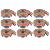 Unique Bargains 1.27mm Pitch 10 Way Ribbon Breadboard Jumper Cable Wire Rainbow Color 1M 9 Pcs