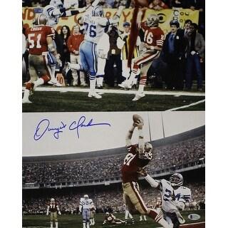 Dwight Clark Autographed San Francisco 49ers 16x20 Photo Collage BAS