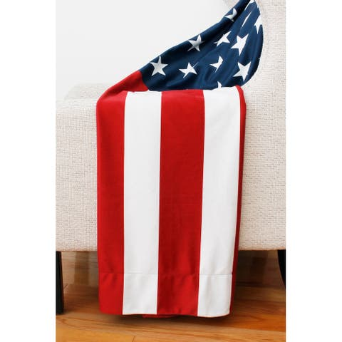 50x60 Erica American Flag Decorative Throw