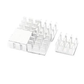 5 Pcs 14 x 14 x 8mm Chipset IC Aluminium Heatsink Heat Sink Cooling Fin w Paster