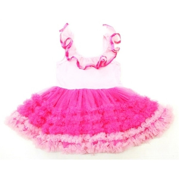 Wenchoice Pink Fuchsia Ruffles Baby-doll Tutu Petti Dress Girl M