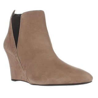 Via Spiga Kenzie Wedge Ankle Booties - Dark Taupe