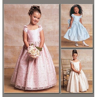 Children's / Girls' Lined, Evening Or Lower Calf Length Dres-6-7-8