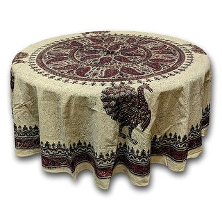 Peacock Paradise Paisley Floral Tablecloth Rectangular Round Square