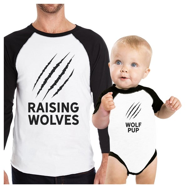 Raising Wolves Pub Cute Dad Baby Matching Shirts Father's Day Gifts