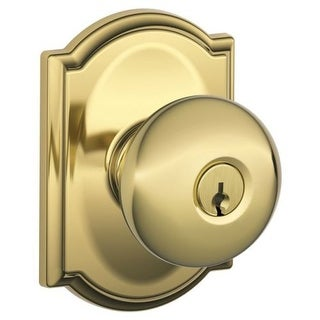 Schlage F51-PLY-CAM Plymouth Keyed Entry F51A Panic Proof Door Knob with Camelot Rosette