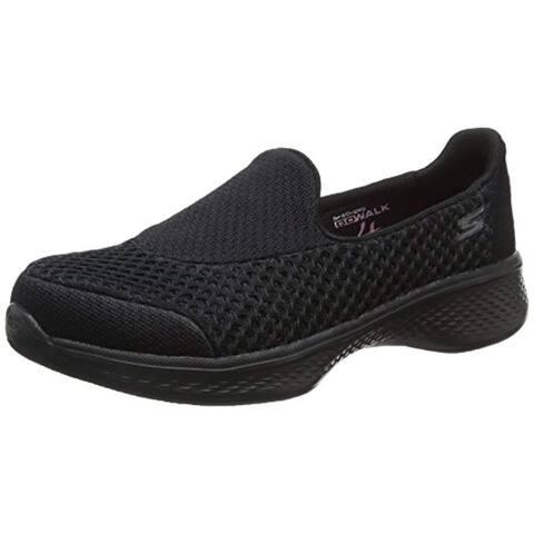 Skechers Girls' Gowalk 4 Kindle Slip-On Walking Shoe,Black,Us 11.5 M