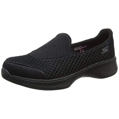 Skechers Girls' Gowalk 4 Kindle Slip-On Walking Shoe,Black,Us 13 M