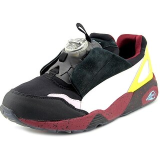 Alexander McQueen By Puma Mcq Disc Black Men Leather Multi Color Sneakers