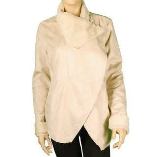 Red Snap Junior Faux Shearling Wrap Jacket