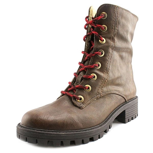 Bar III Blue Women Round Toe Synthetic Brown Mid Calf Boot
