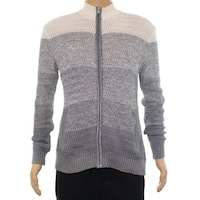 Alfani Gray Mens Size Small S Full Zip Ombre Longsleeve Sweater