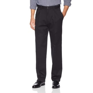 Link to Haggar Mens Pants Black Size 40x29 Relaxed Fit Chinos Pleated Stretch Similar Items in Big & Tall