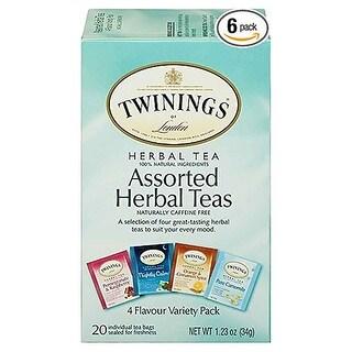 Twinings Tea Tea, Herbal, Assorted - (Case of 6 - 20 bags)
