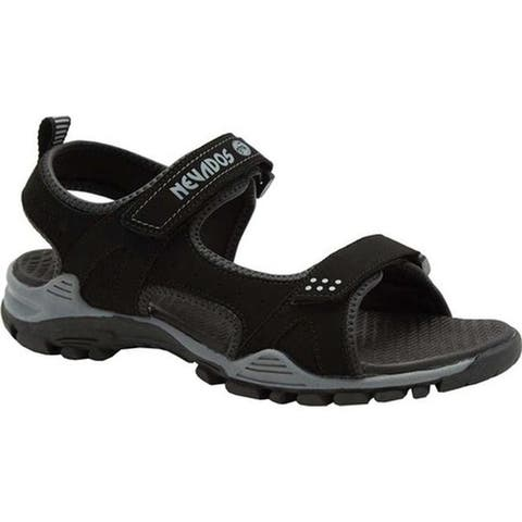 Nevados Men's River Sandal Black/Grey Synthetic/TPR
