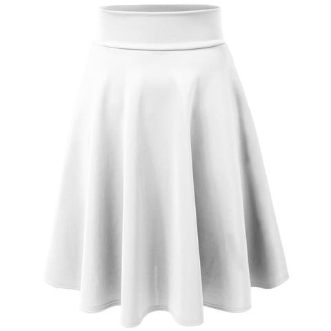cf0567122 Buy White Mid-length Skirts Online at Overstock | Our Best Skirts Deals