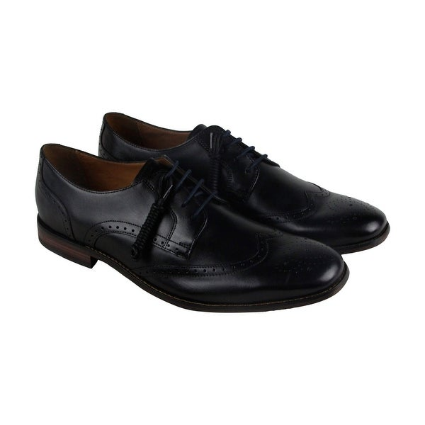 Bostonian Narrate Wing Mens Black Leather Casual Dress Lace Up Oxfords Shoes
