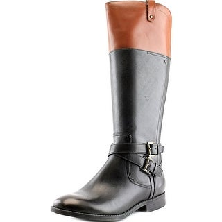 Marc Fisher Audrey W Round Toe Leather Knee High Boot