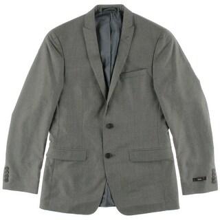 M151 Mens Notch Collar Double Vent Two-Button Suit Jacket