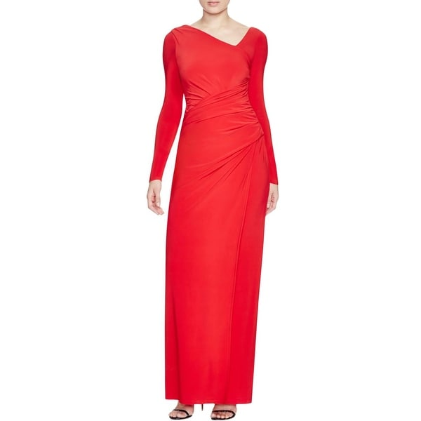 Shop Vera Wang Womens Evening Dress Gathered Asymmetrical Neck - 8 ... a36be1c7a