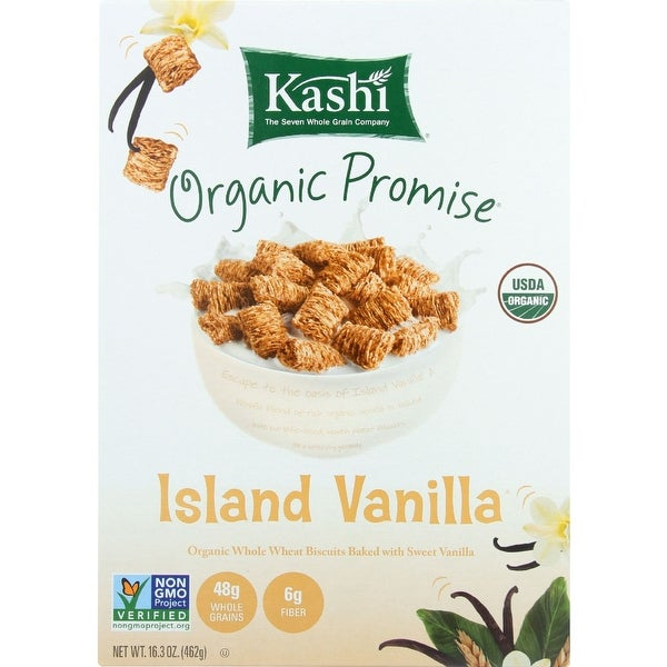 Kashi Cereal - Organic - Whole Wheat - Organic Promise - Island Vanilla - 16.3 oz - case of 12