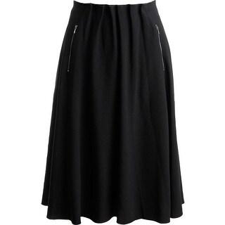 Elie Tahari Womens Loire Crepe Knee-Length A-Line Skirt