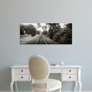 Easy Art Prints Panoramic Images's 'Railroad track, Napa Valley, California, USA' Premium Canvas Art