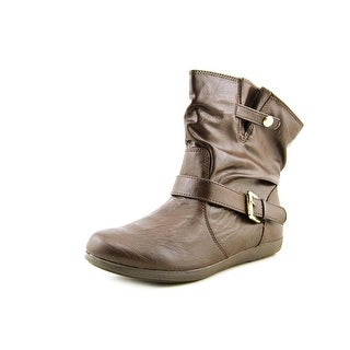 Rampage Camelia Women Round Toe Synthetic Brown Bootie