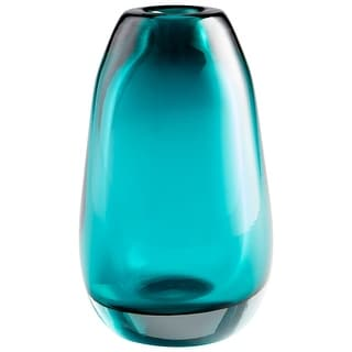 "Cyan Design 09493  Ocean 6"" Diameter Glass Vase - Blue"