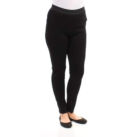 KENSIE Womens New 1191 Black Casual Leggings L