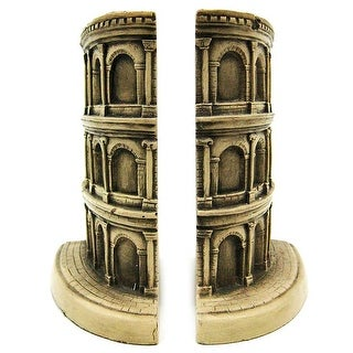 The Roman Colosseum Bookends Rome - Black