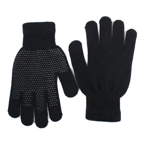Mens Magic Knit Gloves Anti Slip Wool Blend