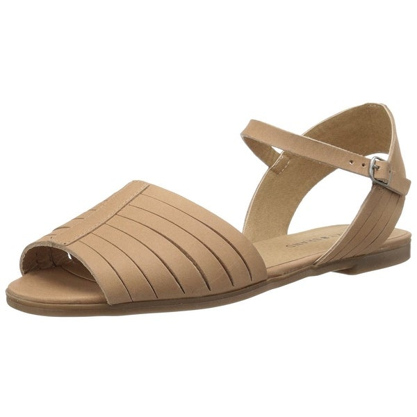 Lucky Brand Womens Channing Leather Open Toe Casual Ankle Strap Sandals