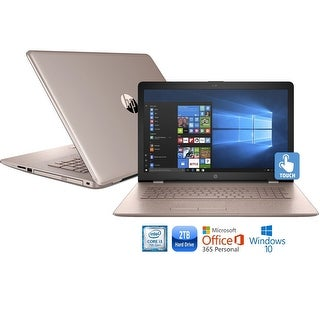 "HP 17-bs013cy Core i3-7100 2TB HDD 17.3"" HD+ Touch Screen MS Office 365 Laptop - rose gold"