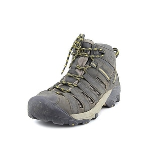 Keen Voyager Mid Men Round Toe Leather Brown Hiking Boot