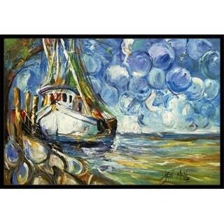 Carolines Treasures JMK1080JMAT Shrimp Boat 101 Indoor & Outdoor Mat 24 x 36 in.