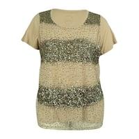 INC International Concepts Women's Sequin Short Sleeve Tee - vendor neutral - 2x