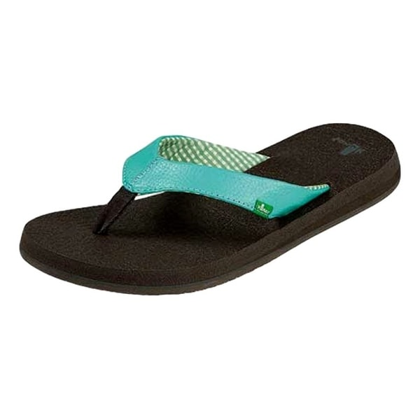 Sanuk Sandals Womens Yoga Mat Flip Flops Lightweight