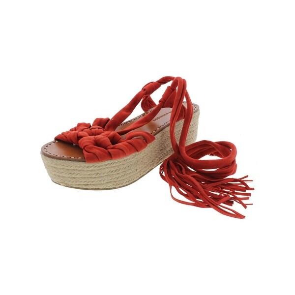 Sigerson Morrison Womens Cosie Platform Sandals Suede Espadrille